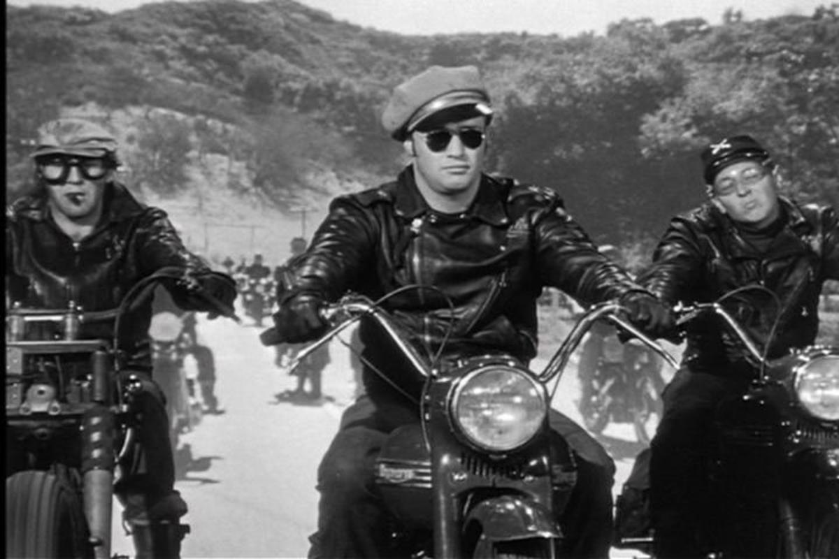 The opening scene of The Wild One makes it easy to see the draw of tough-guy rebels to an anxious teenage audience.