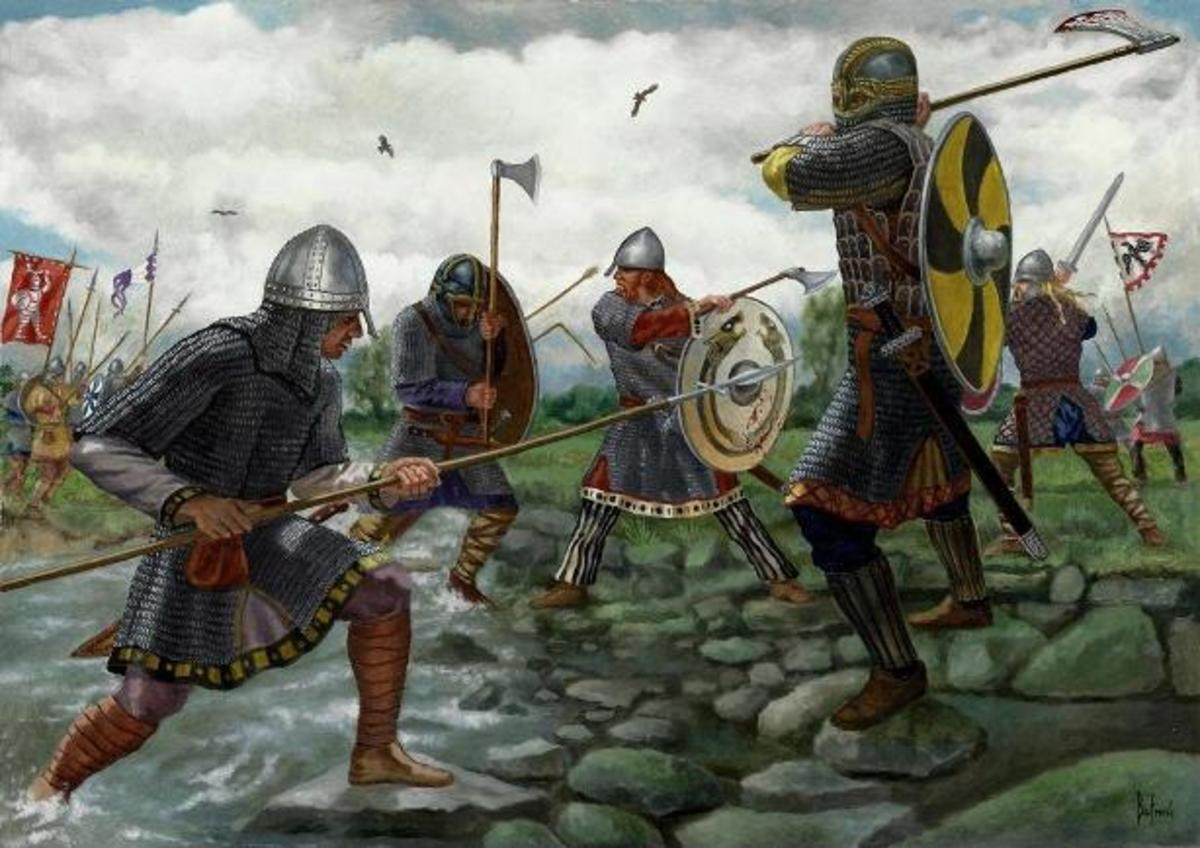 The Danes take on Wessex - it was only after Aelfred had been on Aethelney in the Somerset Levels that he was able to muster an army able to take on the Danes on a more equal footing