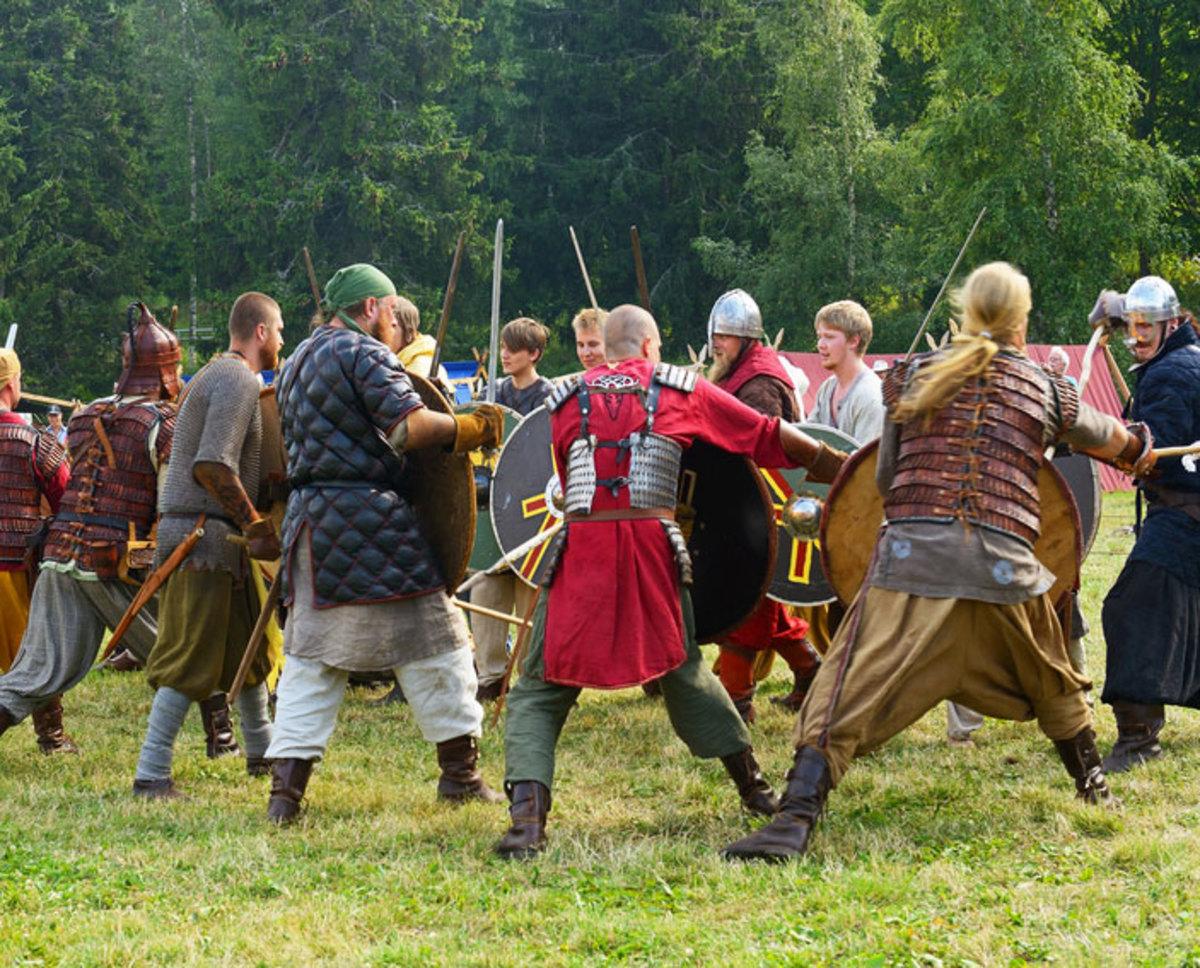 Re-enactment of the Danes' siege of Wareham in Wessex