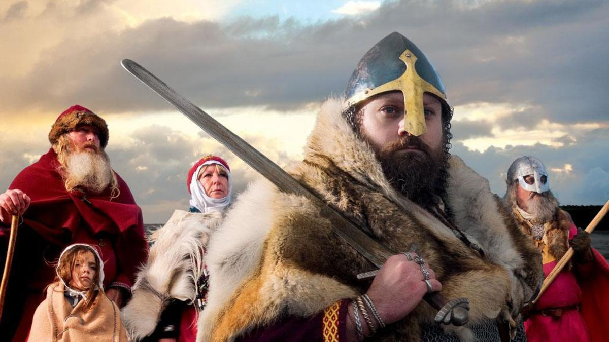 """""""The Danes came in 866 AD - when will you come?"""" Publicity poster shot for the Jorvik Viking Centre, Coppergate, York - re-opening April, 2017"""