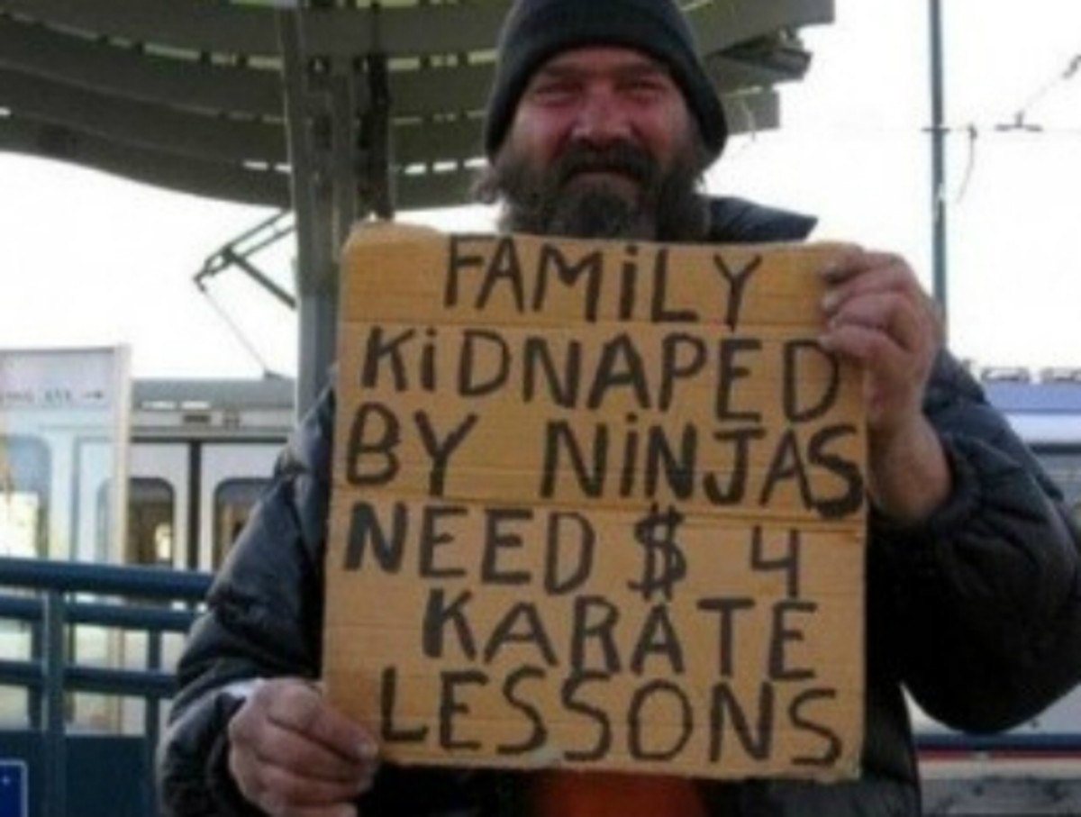Family kidnapped by ninjas need money for karate lessons