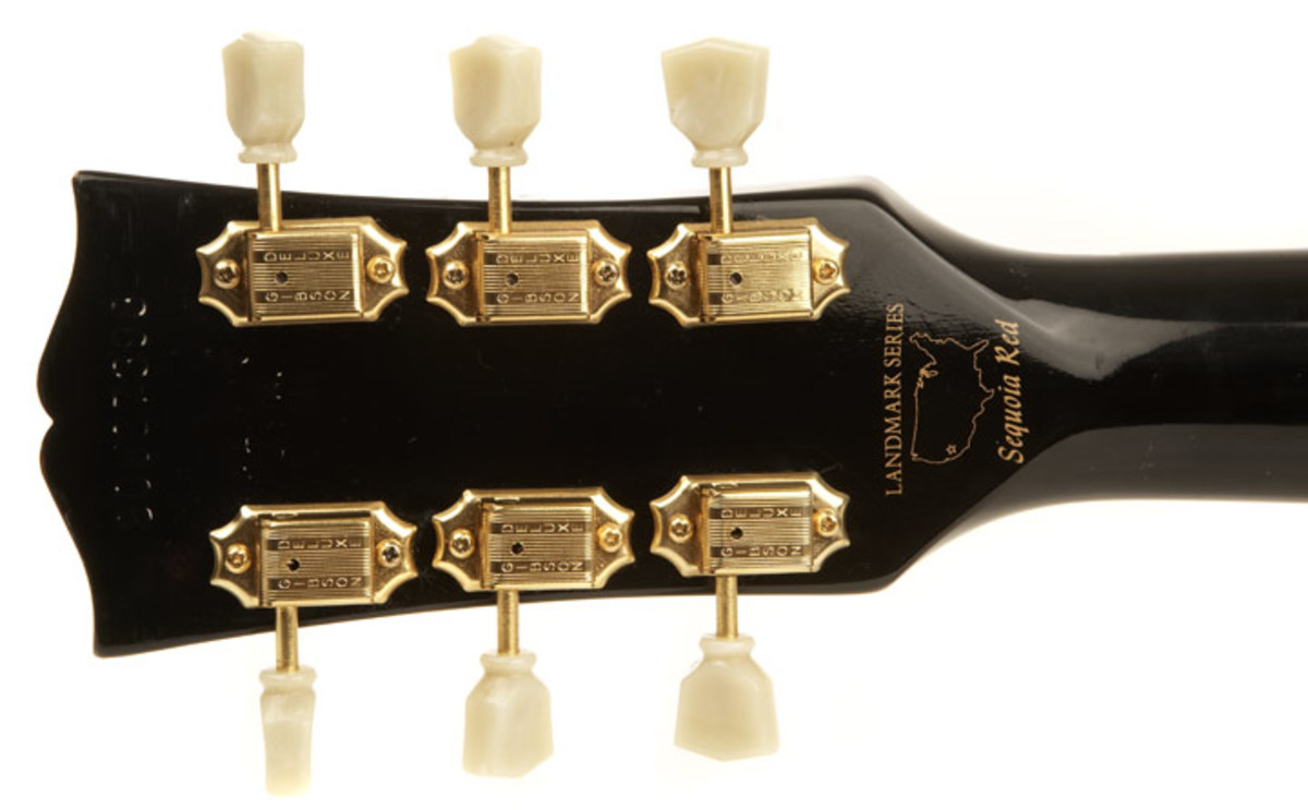 Identify a Landmark Series Nighthawk guitar from the back of the head stock.