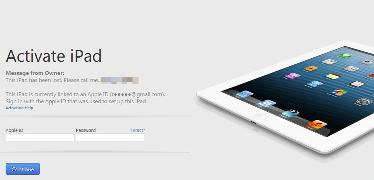 The dreaded iPad Activation Lock