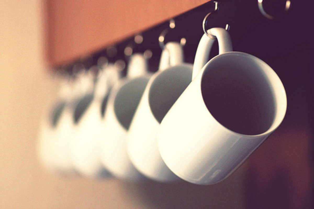 Under cabinet mug hooks