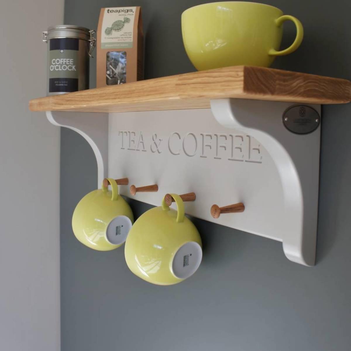 Tea and coffee mug shelf