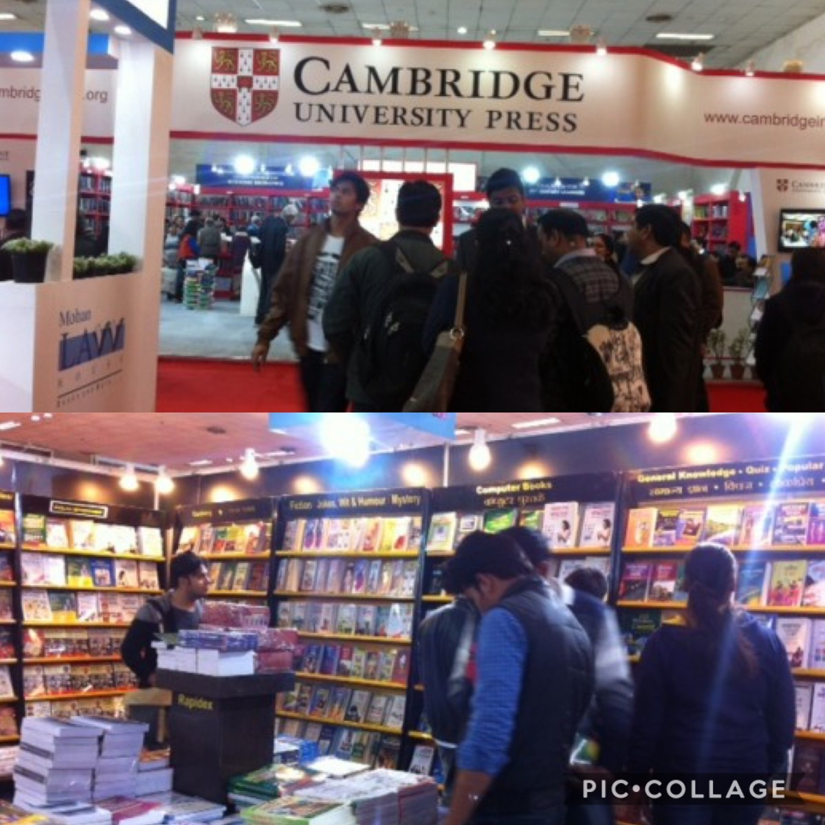 Book lovers scanning through the pages at the World Book Fair, New Delhi