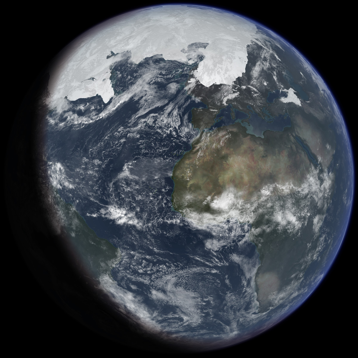Artist conception of The Ice Age