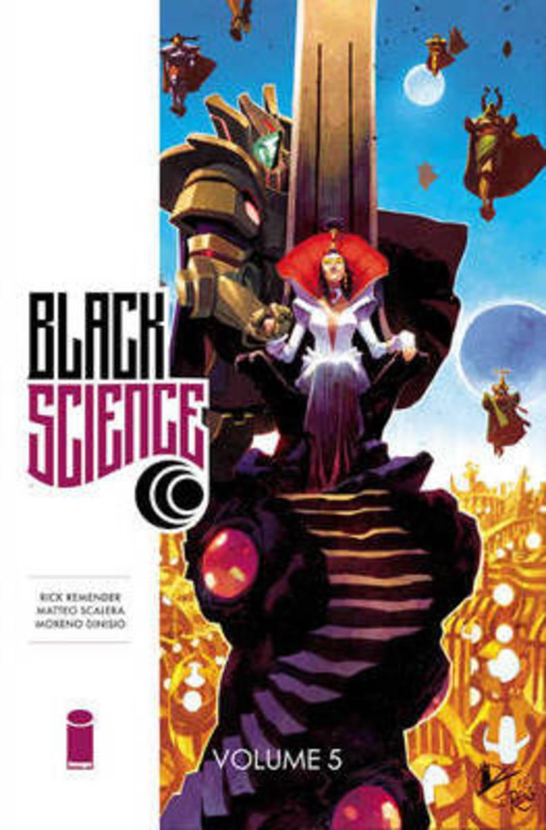 Alternate cover art of Black Science, Volume 5.