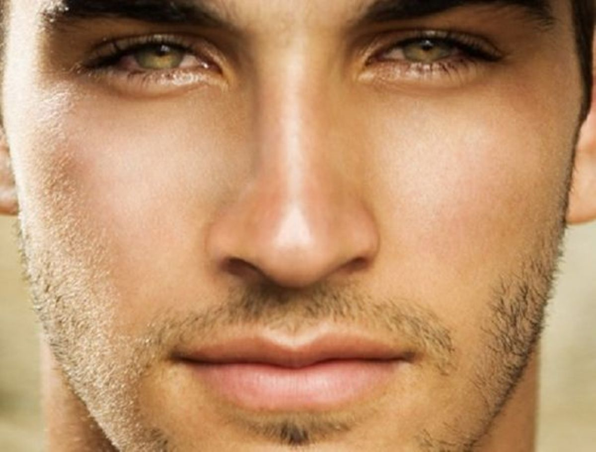 Pretty men perfect face facial contours male beauty