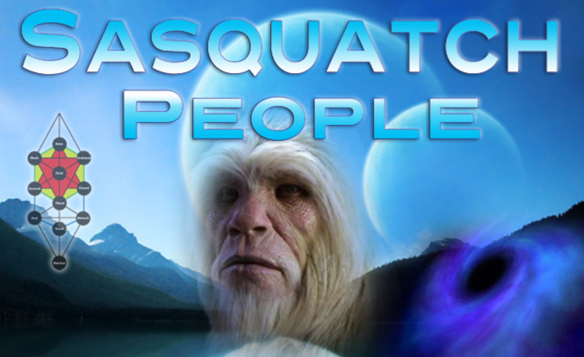 The fourth race of hybrid Humanoids on this planet, were the Sasquatch people, Psychic Warriors and protectors of All Life.