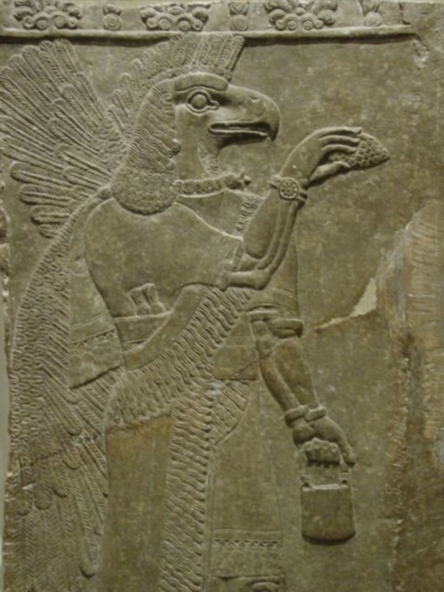 The Bird People were depicted by the ancient Sumerians as beings with a double set of wings and a bird like head.
