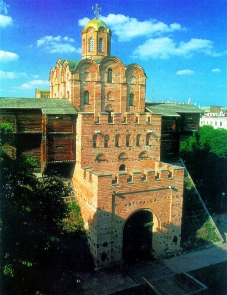 The Golden Gate would have been the first Gytha saw of Kiev when she arrived from the riverside with her husband-to-be Valdemar (Vladimir)