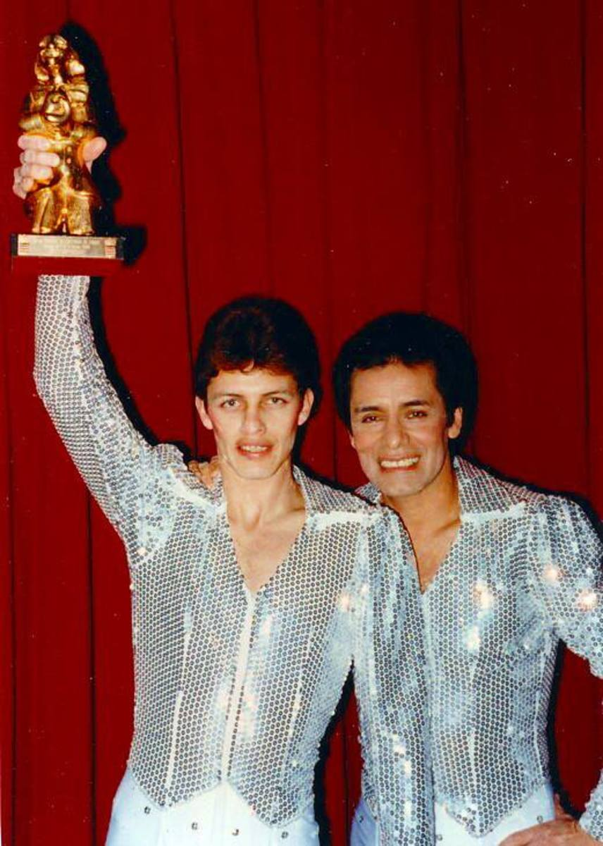 Winning the coveted Golden Clown Award at the circus festival in Monte Carlo; 1990
