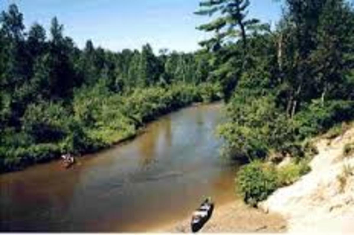 Pine River near the sand dune