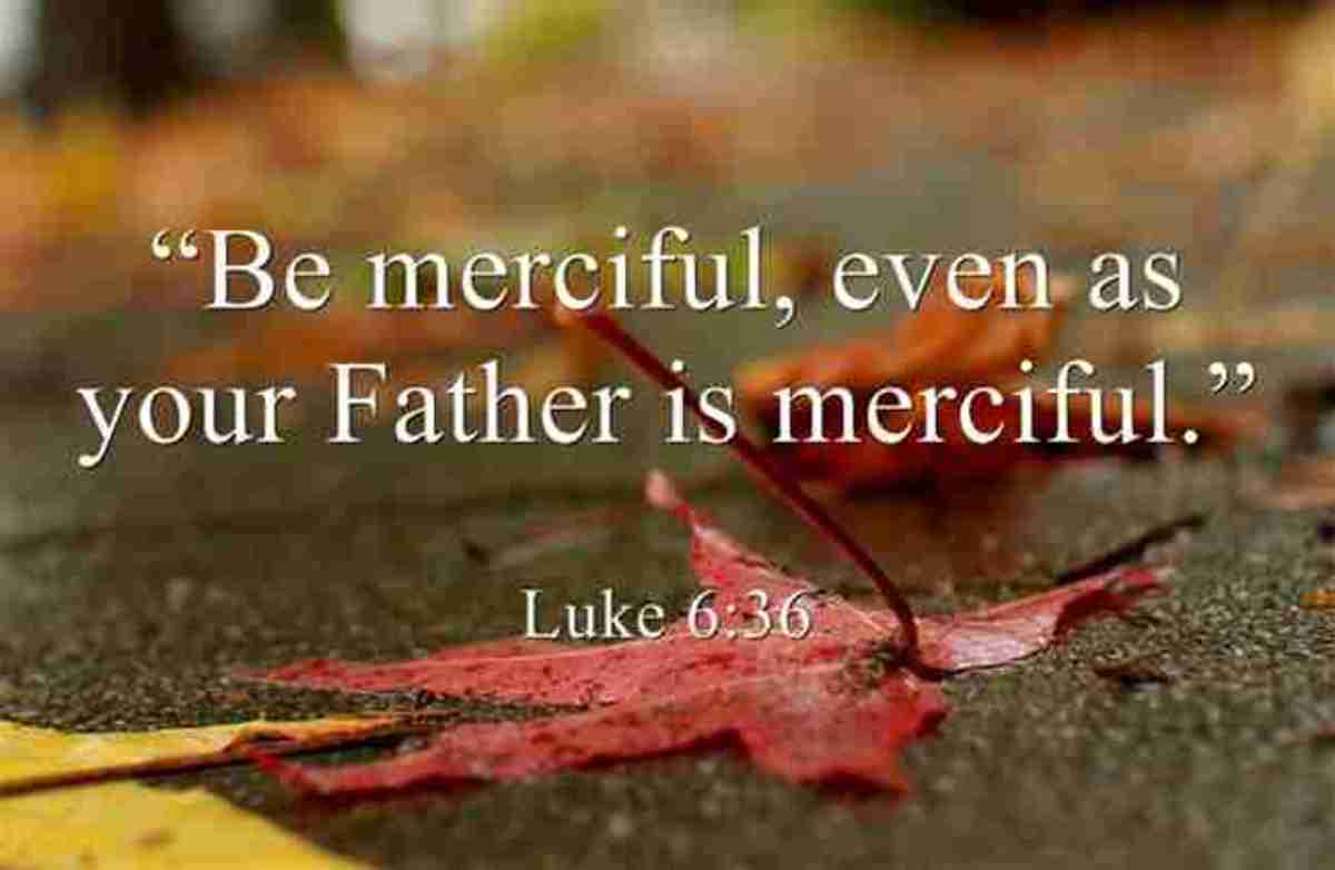 We are to be Merciful, just as our Father is Merciful Lk. 6:36