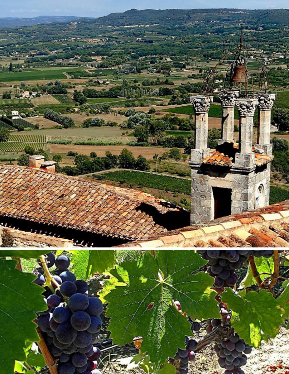 Unsurpassed vistas of farmland and vineyard in Provence.