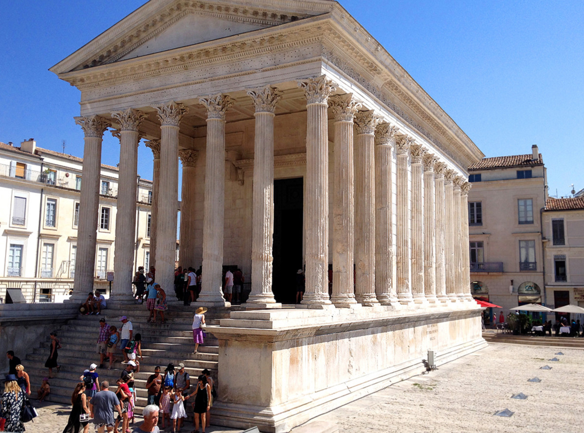 Maison Carree in Nimes, a town known as the French Rome.