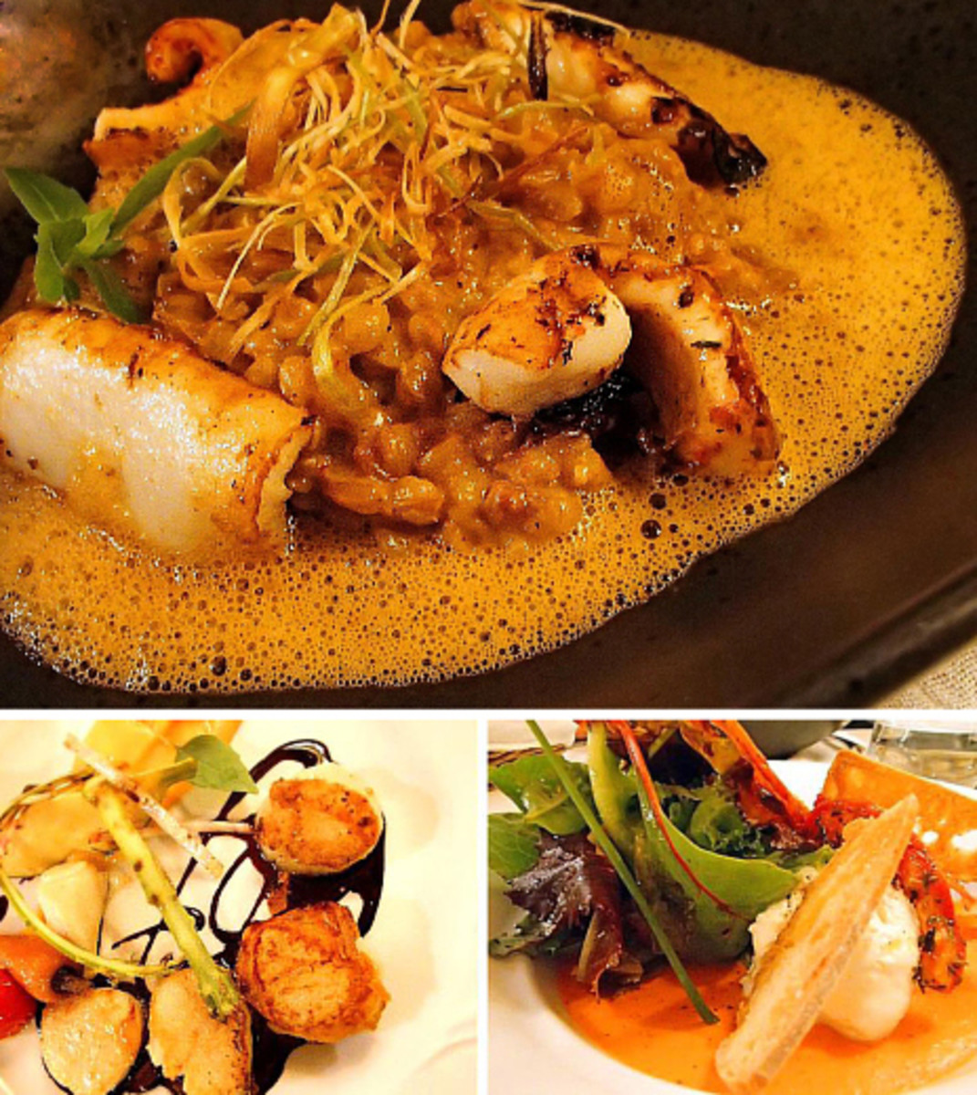 The impressive dishes that make L'Arome one of the best restaurants in Provence.