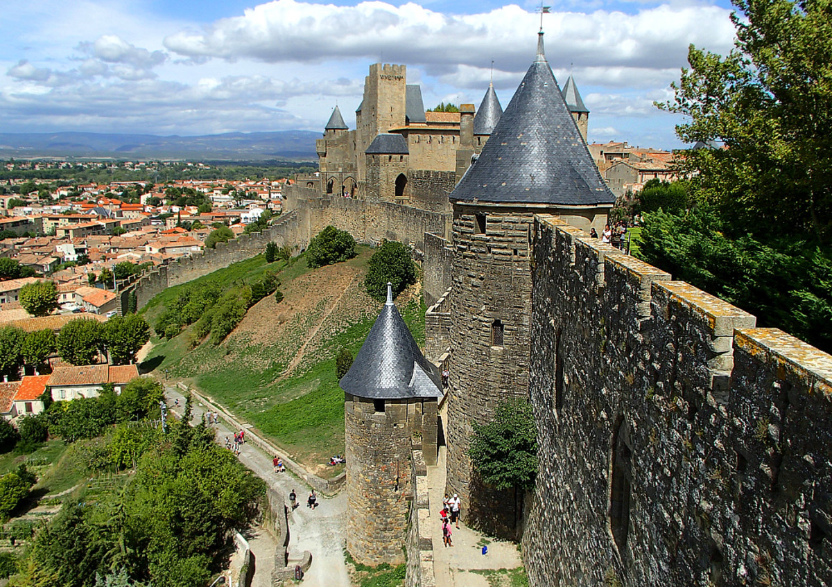 The medieval fortress of Carcassonne is a UNESCO World Heritage Site.