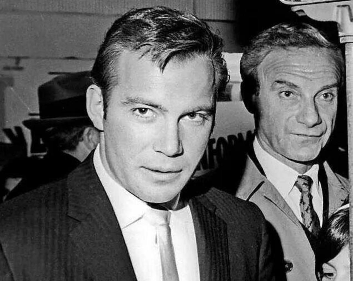 Jonathan Harris from Lost in Space with William Shatner of Star Trek