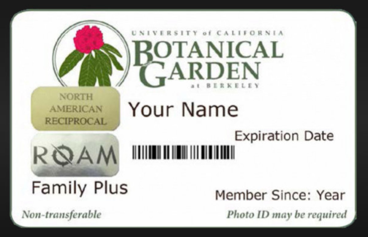 Membership Card Image Credit: http://botanicalgarden.berkeley.edu/reciprocal-benefits
