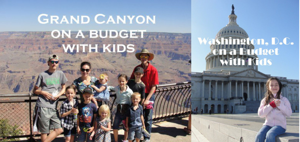 Grand Canyon on a Budget with Kids and Washington DC on a Budget with Kids