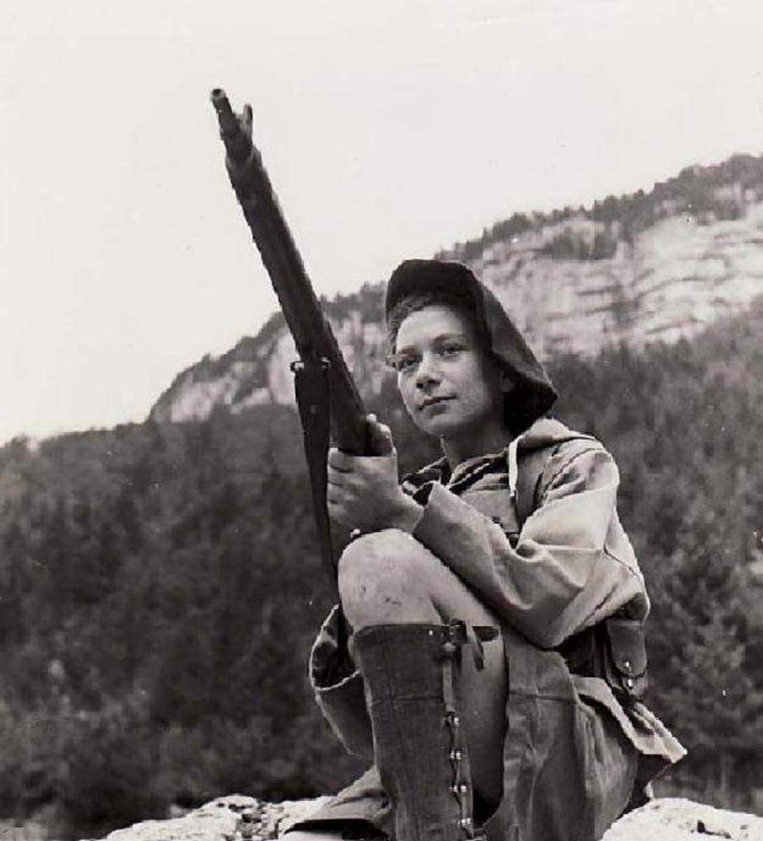 Nancy Wake during covert operations