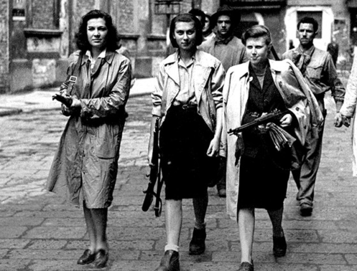 Nancy Wake with French Resistance