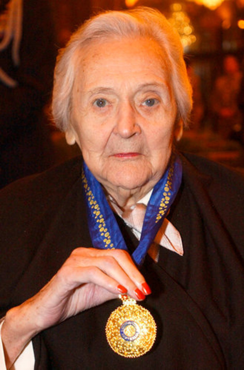 Nancy Wake at nursing home.
