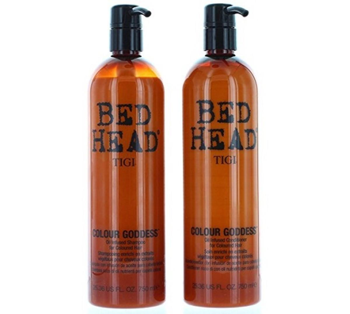 TIGI Bed Head Color Goddess Oil Infused Shampoo & Conditioner.
