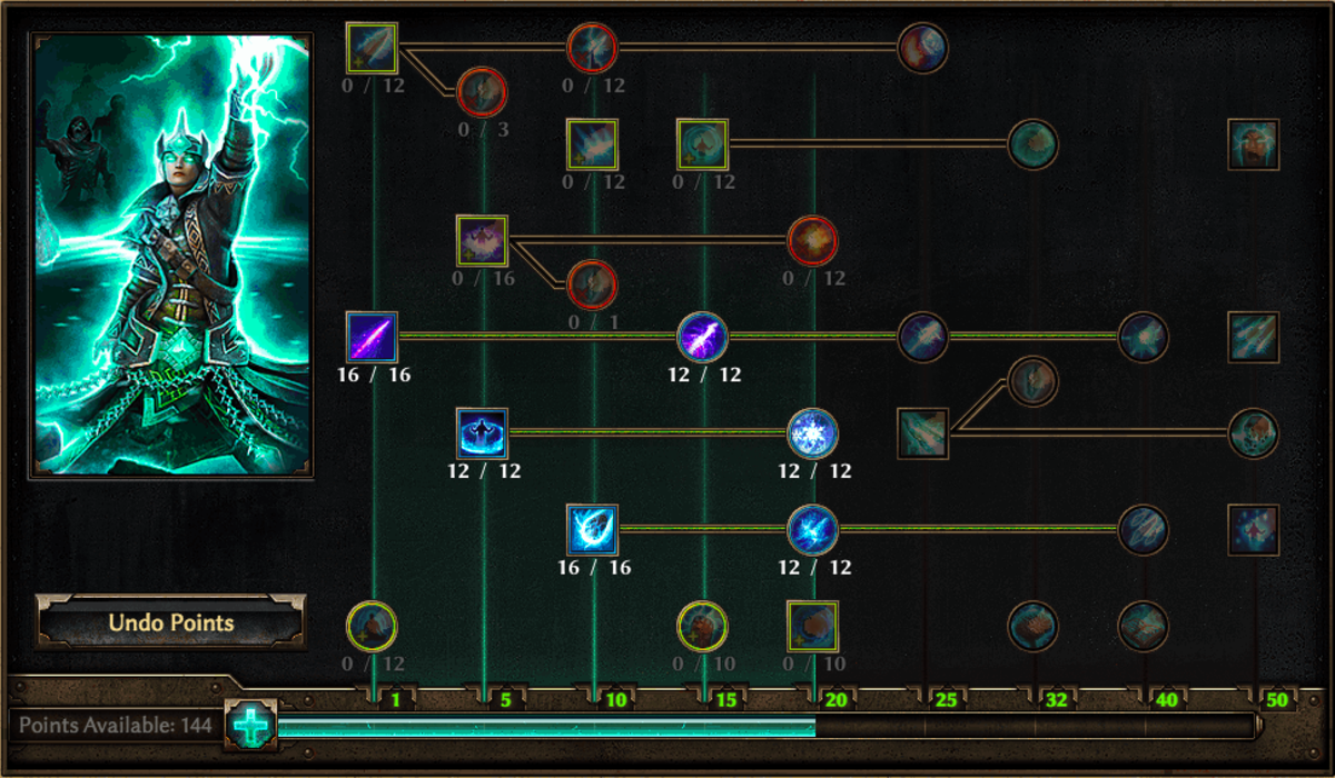 Arcanist Skill Tree, Copyright Crate Entertainment