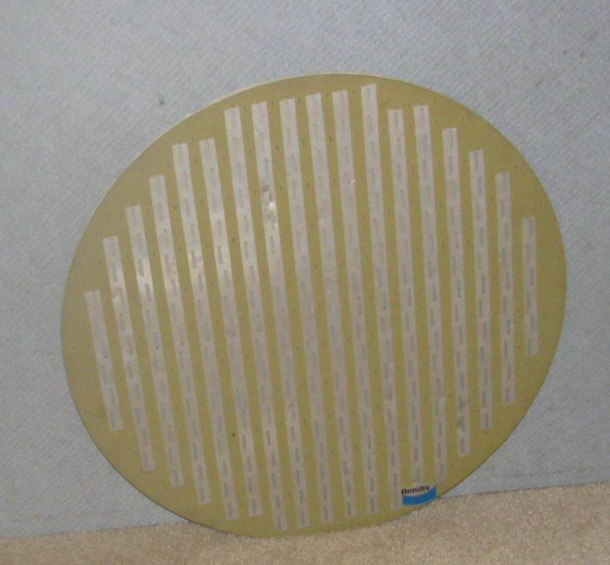 Slot antenna from an aircraft nose cone.