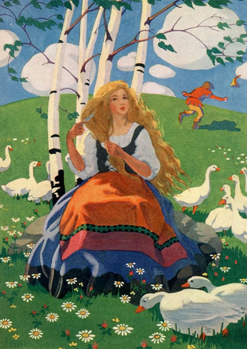 The Goose Girl by Elizabeth Curtis (1873-1946)
