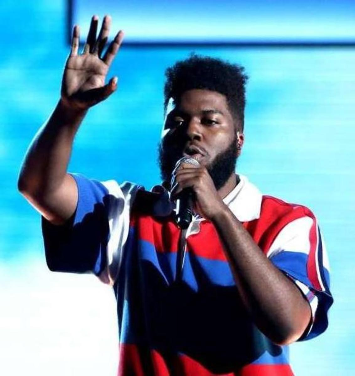 Khalid performing on stage