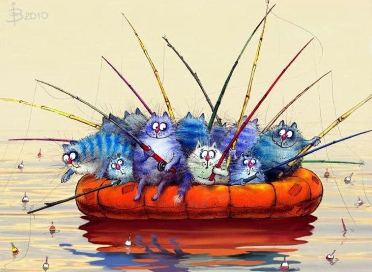 Blue cats by Irina Zenyuk