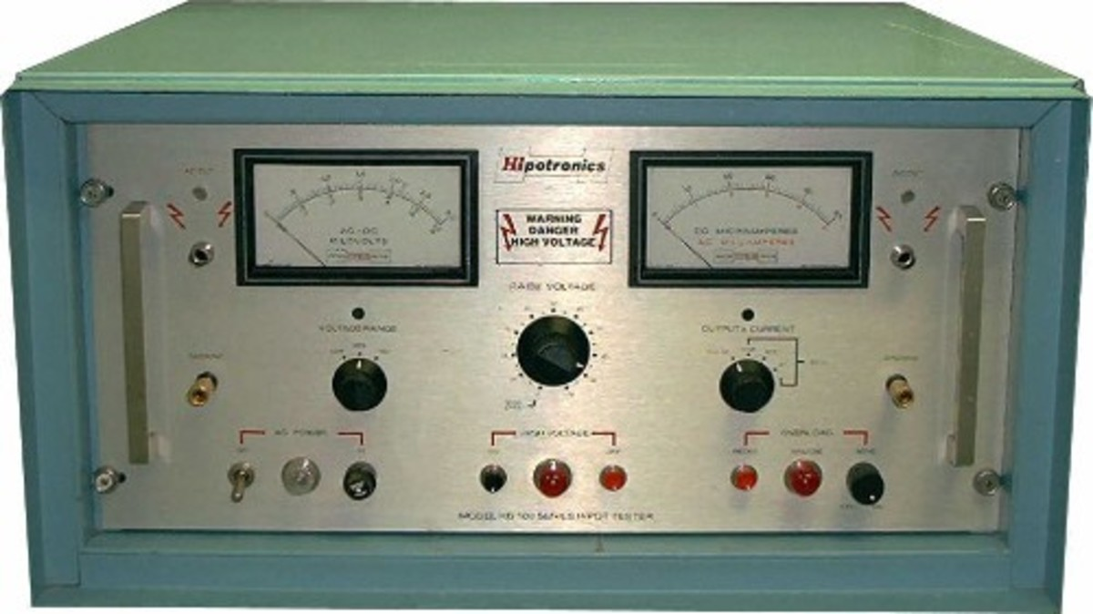 This dielectric tester is a popular testing device for electronic equipment in aerospace. It can give multiple reading including readings for a high-pot test.