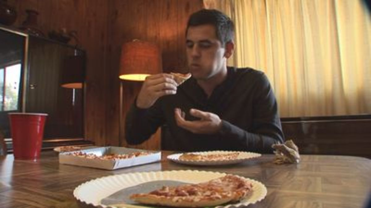 Move over Ninja Turtles! Josh eats 1,800 pounds of pizza in a single year!