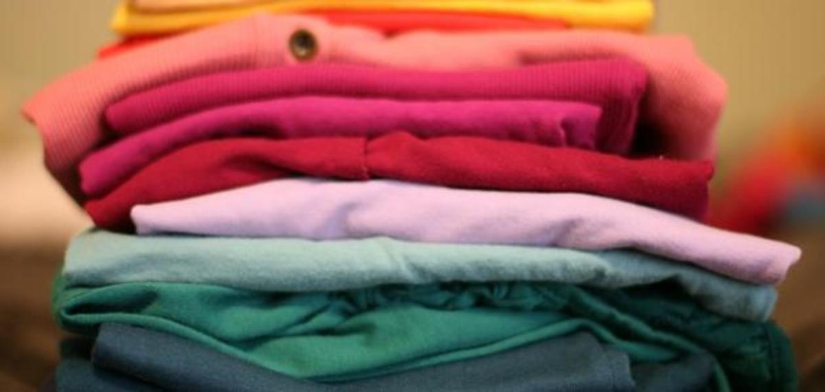 Colored cotton clothes.