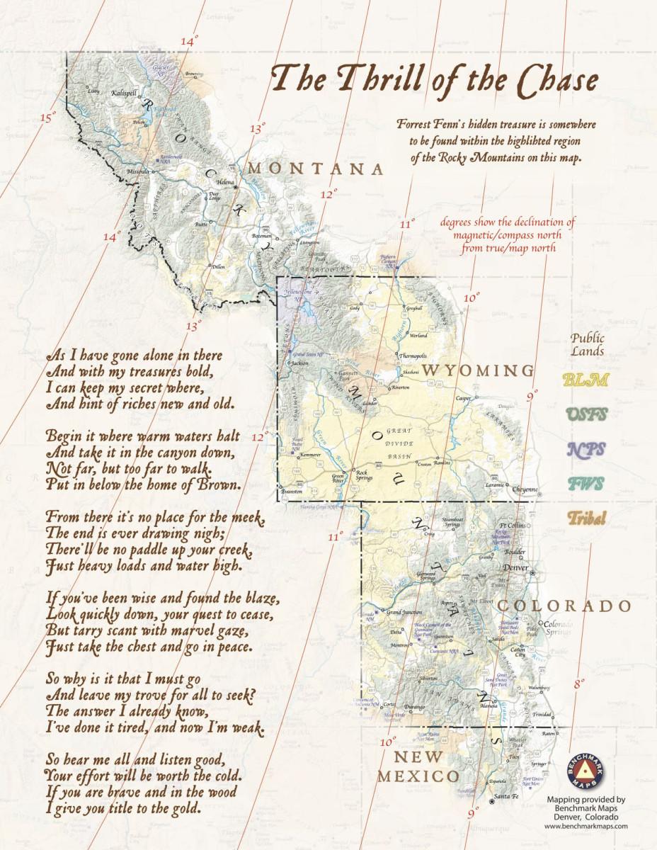 Forrest Fenn's Treasure Map