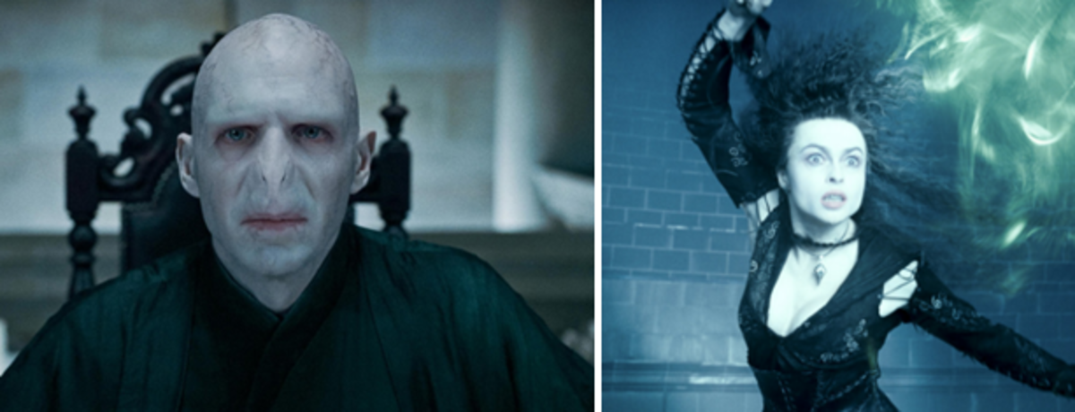 Lord Voldemort, and his faithful psycho Bellatrix.