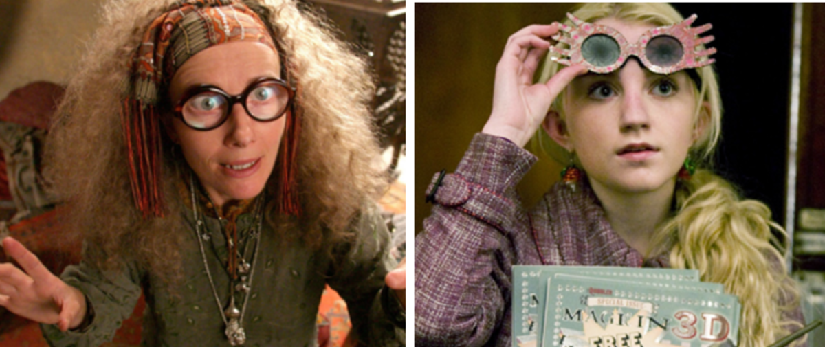 Professor Trelawney and is Luna Lovegood.