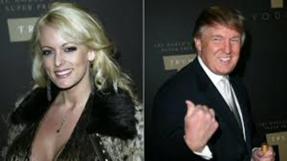 Stormy Daniels, ex-porn star, who had an affair with Trump.