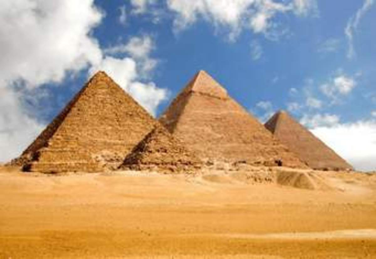 The pyramids in Egypt, could be one of the oldest monuments, that mankind has built because of their religious beliefs.