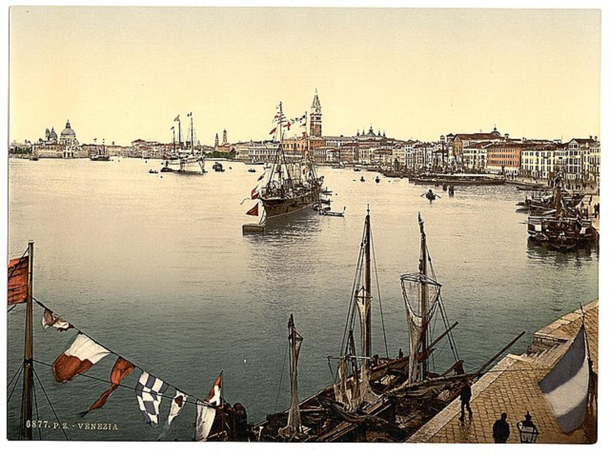 Venice harbor, Venice, Italy - Between 1890 and 1900