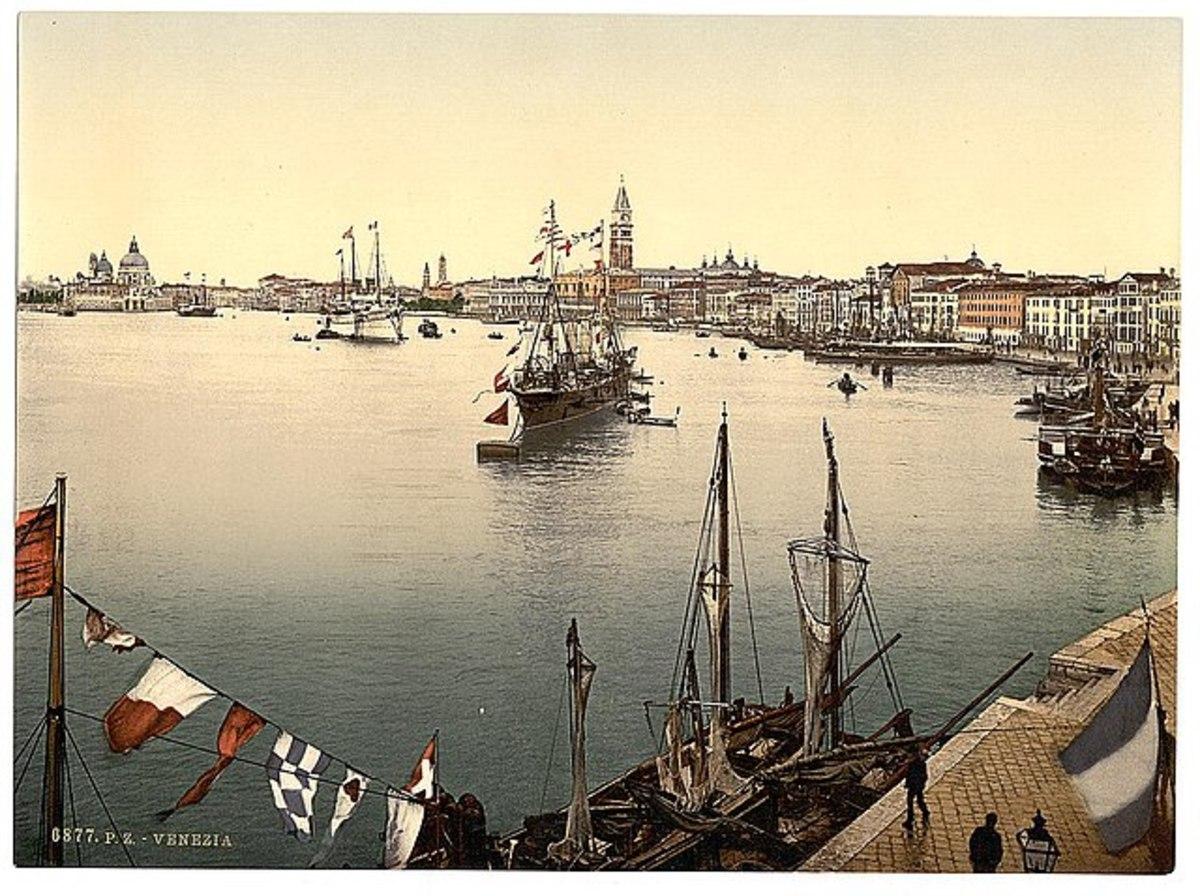 Venice harbor, Venice, Italy - Between 1890 and 1900