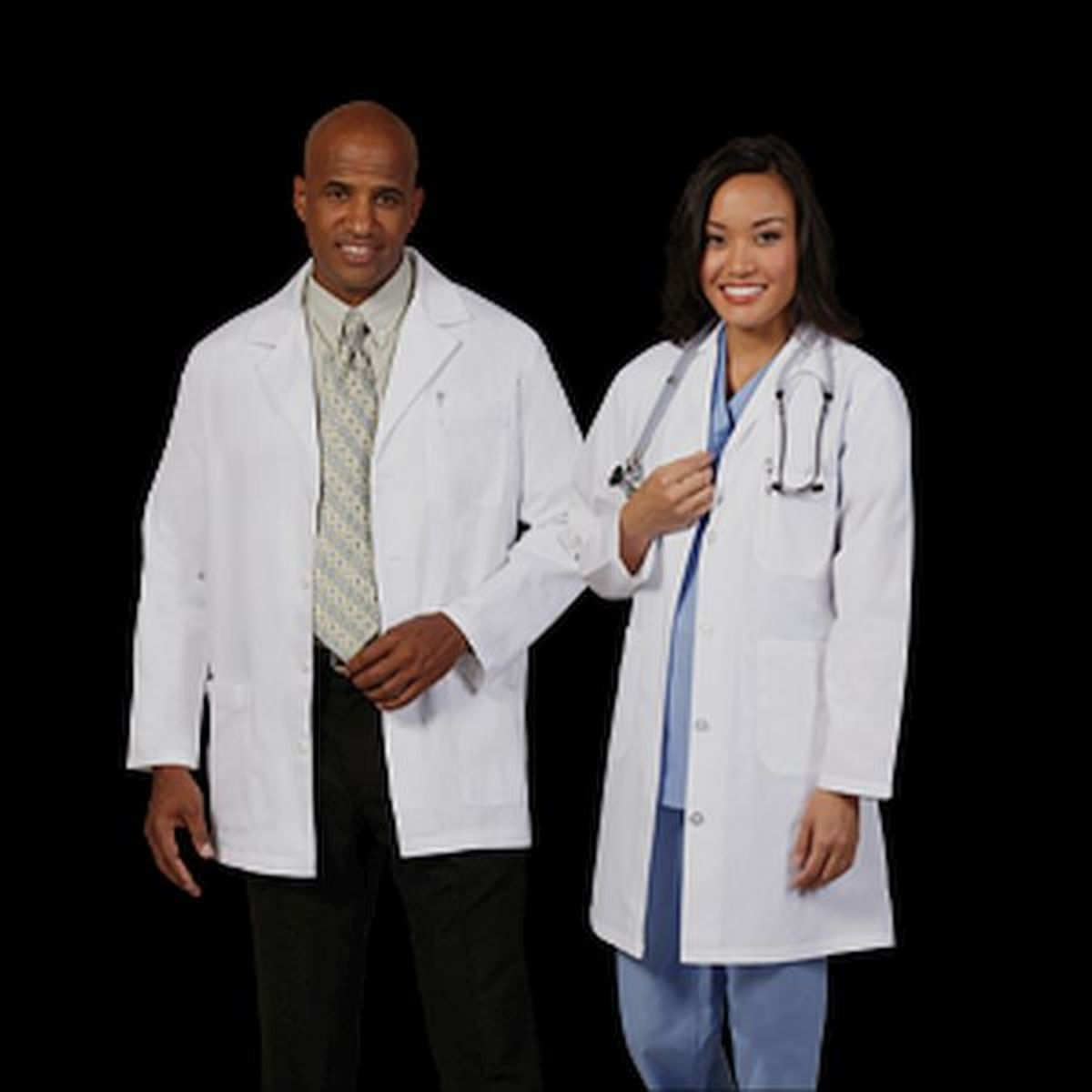 Medium length lab coats