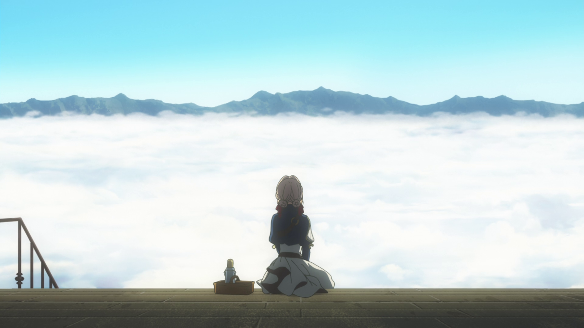 Enjoy the lovely view with Violet Evergarden.