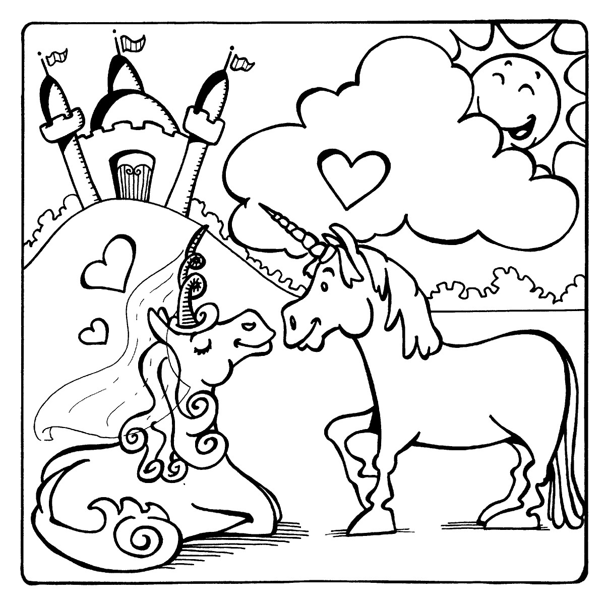 What could be more magical than a unicorn prince and princess?