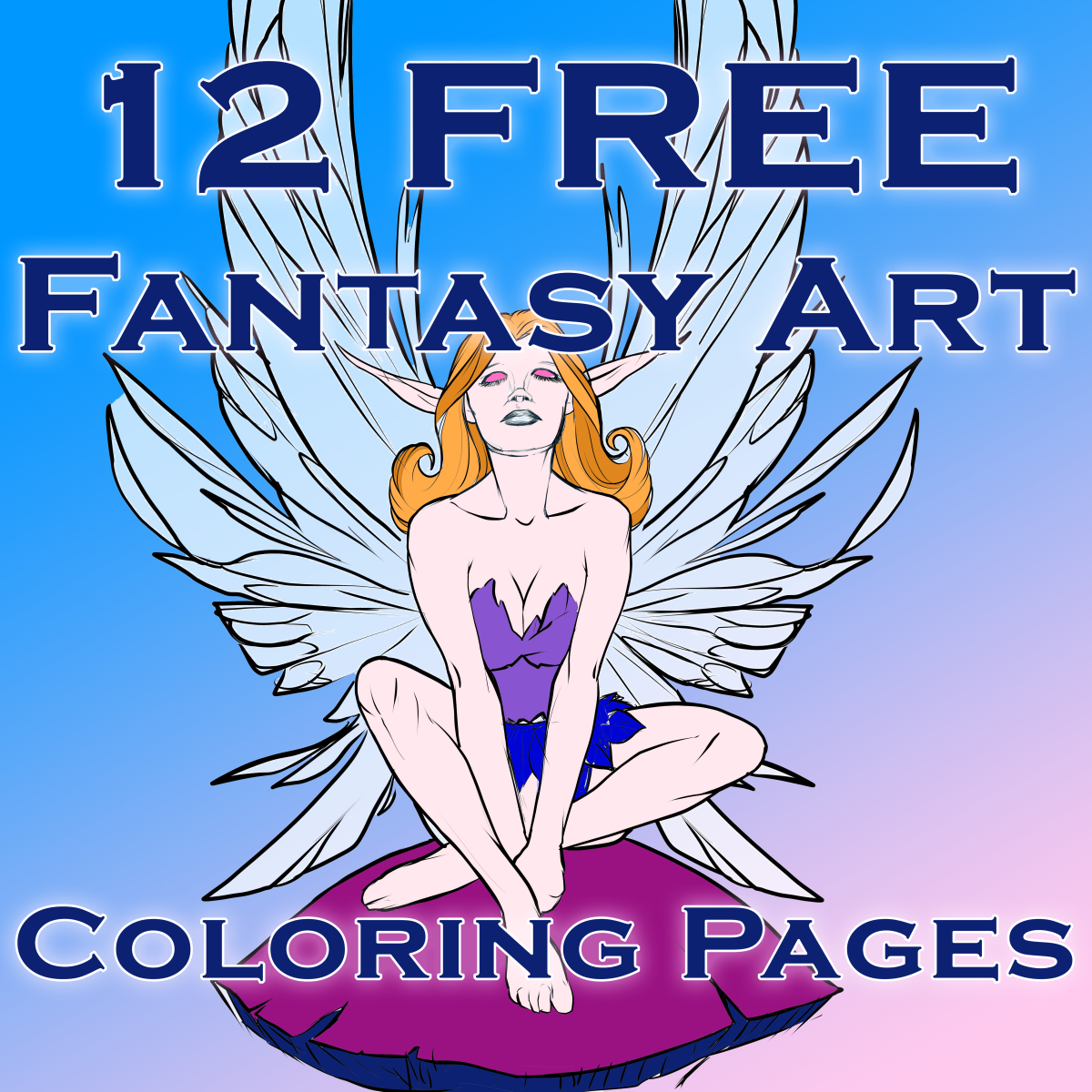 Fantasy Art Coloring Pages: 12 Free Printable Coloring Pages for Kids, Teens, and Adults