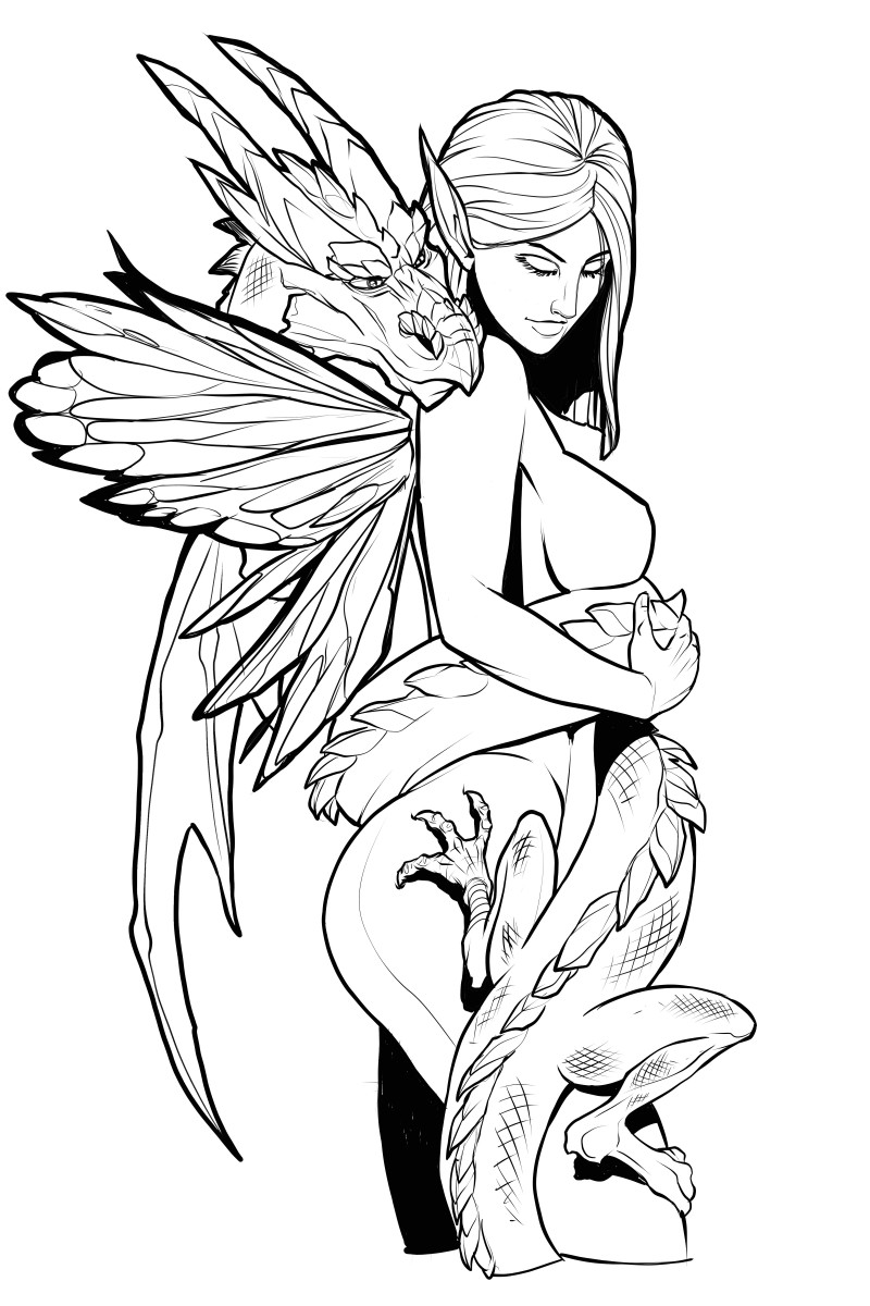 This fairy princess is very close with her dragon.